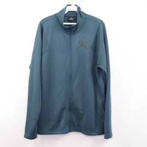 Nike Jordan Mens Medium Jumpman Logo Jacket Blue